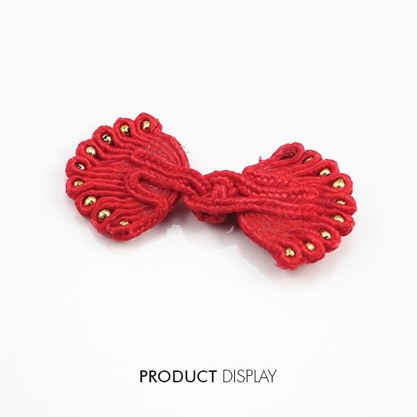 10 Stück Knöpfe Knot Chinesische Kleidung Stoff Knopf Frosch