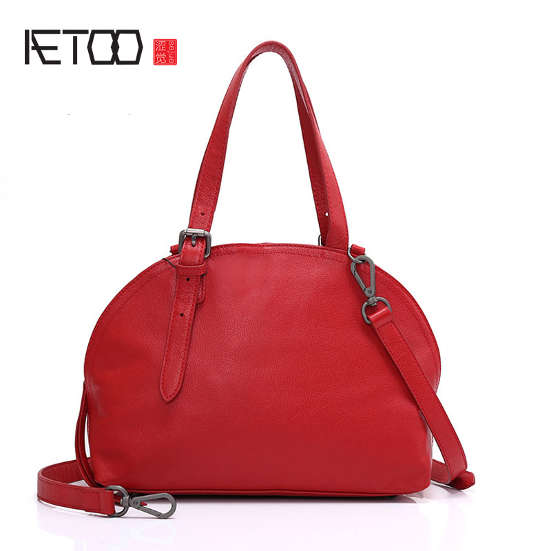 AETOO Leather handbags 2017 new European and American fashion shells women's first layer of leather shoulder women's foreign tra transformation of american foreign policy