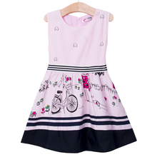 Hot Sale Vogue Kids Baby Girls Sleeveless Anime Fancy Princess Party Ball Gown Dress 2-7Y New 2016