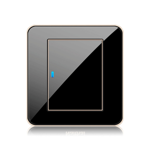 Image 3 - EU 1 2 3 4 Gang 1 2 Way Press button Black Mirror Light Switch Any Point Wall Switch Acrylic Panel With Led Socket USB German UK