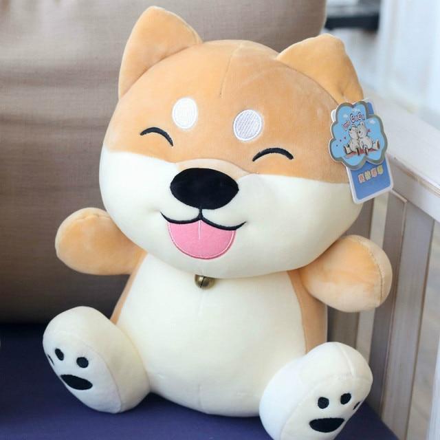 1 PCS 35 centímetros Software Para Baixo Algodão Pluma Shiba Inu Boneca de Pelúcia, bonito Shiba Inu Dog Plush Brinquedos De Pelúcia, Crianças Brinquedo crianças Presentes