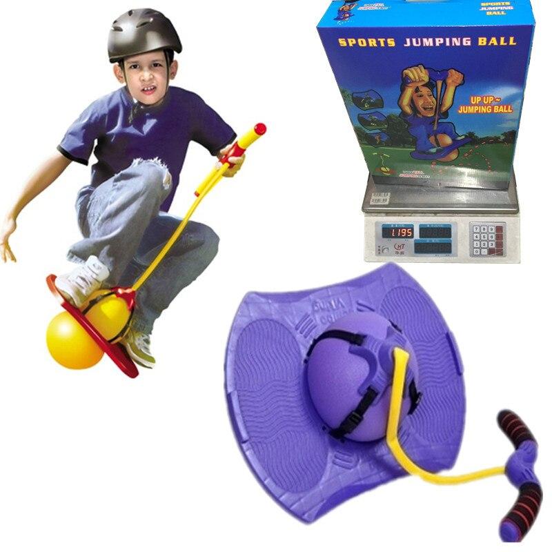 Brinquedo ao ar livre com alça bola de salto crianças equipamentos de bola de fitness bola de brinquedo com corda de borracha bola de salto