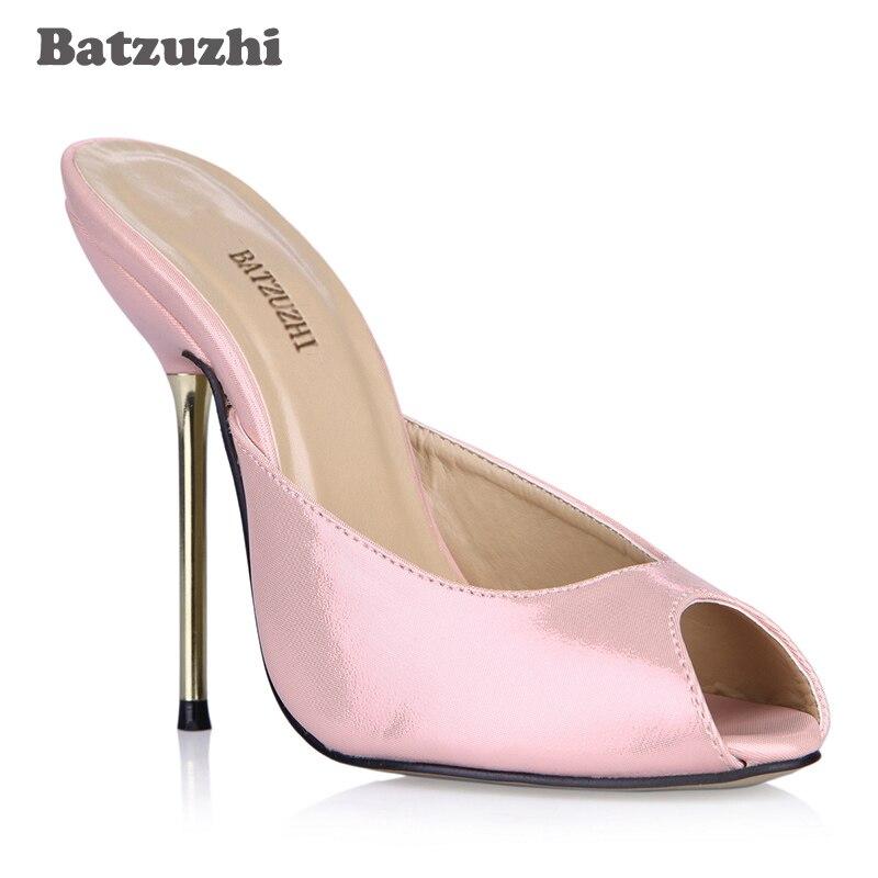 Rose Chaussures Stiletto Sexy Parti Sandales Talons Diapositives Peep Plus Fer Tailles Haut Dames Zapatos Mujer 10 Femmes Toe Batzuzhi 5 Kc3lF1TJ