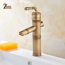 ZGRK grifos de lavabo, grifos de mezclador en frío clásico de un solo Mango, grifos mezcladores en frío antiguos, decoración de lujo, grifo montado en la cubierta del grifo del fregadero