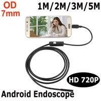 Endoskop 7mm 1M 2M 3M 5M USB Android Endoscope Camera Inspection Phone Camera IP67 OTG USB