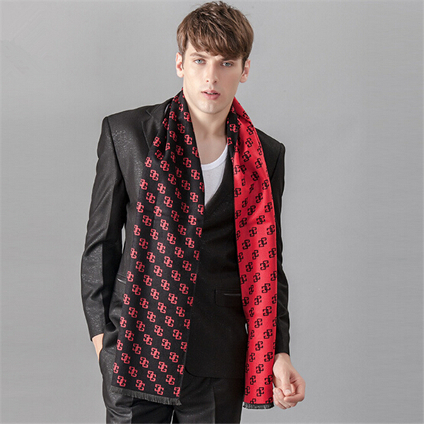 Apparel Accessories Modal Printed Cotton Scarf Luxury Brand Winter Scarf Warm Soft Shawl Wrap Long Scarf Men Scarves Jacquard Weave Duftgol Jd10079