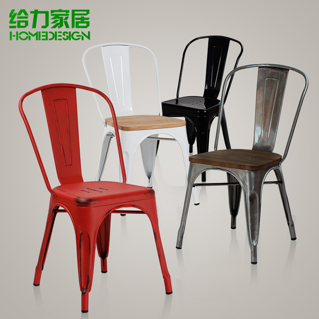 Ikea Metal Chairs Intex Inflatable Chair And Ottoman European Dining Leisure Restaurant Industry To Do The Old Fashion Loft Iron Furniture Leather