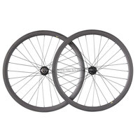 ICANBikes Cyclocross Bike/Mountain hard tail 700C Wheelset 38mm Clincher Carbon Road Wheels Disc Brake Bitex Hub