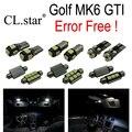 11 unid x sin error libre para volkswagen vw golf 6 mk6 gti mkvi lámpara led kit de luz interior paquete (2010-2014)