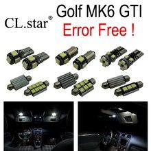 11 шт. Х canbus ошибка бесплатно для Volkswagen VW GOLF 6 MK6 GTI MKVI СВЕТОДИОДНЫЕ лампы Интерьер Свет Комплект Пакет (2010-2014)