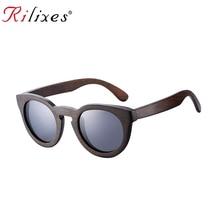 RILIXES New Fashion Real Zebra Wood Sunglasses Polarized Handmade Bamboo Ladies Sunglass Sun glasses Men Gafas Oculos De Sol