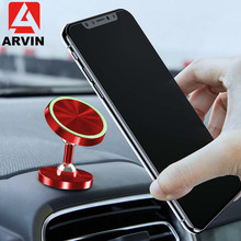 Arvin Magnetic Phone Car Holder Luminous 360 Degree Rotating Metal Bracket For IPhone 8 X XR Samsung Universal Smartphone Stand