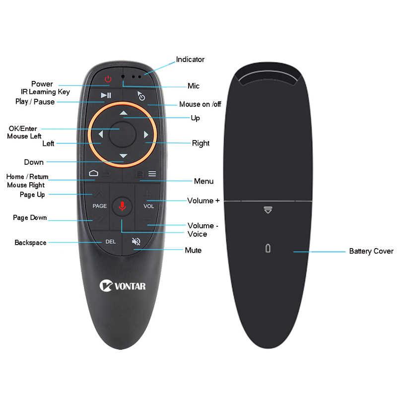 G10 mysz powietrzna airmouse 2.4GHZ inteligentny pilot zdalnego sterowania z Google Voice dla Htv 6 box Xiao mi i9 X96 h96 max Mag 322 5 telewizor z dostępem do kanałów mi pudełko