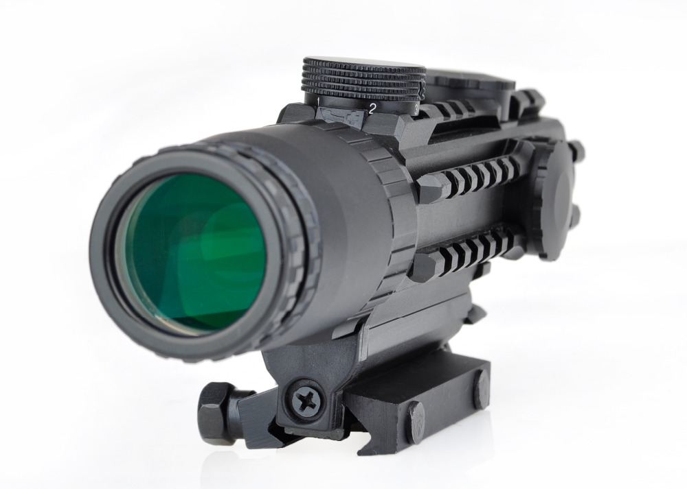 AIrsoft 1-3x28 Riflescope Yellow Illuminated Rangefinder Reticle Shot gun Air Hunting Scope For Hunting Rifles discovery vt t 4 5 18x44sfvf white leters reticle side shooting hunting riflescope rangefinder for airsoft air guns