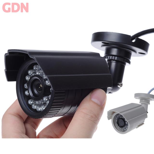 MiNi CCTV Câmera de Segurança Ao Ar Livre Bala 800TVL 1/4 ''Color CMOS IR-CUT Filtro 3.6mm Lente 24IR Leds À Prova D' Água ABS caixa de plástico