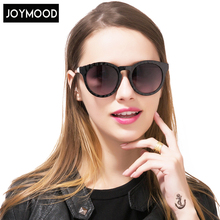 JOYMOOD Black Cat Eye Sunglasses Woman Shades Mirror Female Round Sun Glasses For Women 2017 Alloy Legs Oculos De Sol Feminino