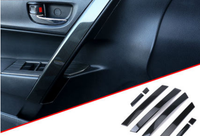 BJMYCYY 8PCS/SET Car inner door handrail patch for Toyota Corolla 2014 2018 auto accessories