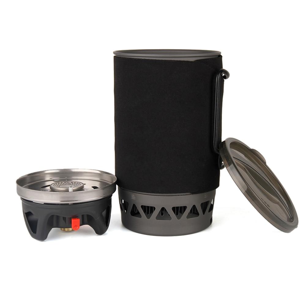 APG 3-en-1 1400 ML extérieur Camping cuisinière Pot bol gaz brûleur ustensiles de cuisine pique-nique cuisson poche cuisinière à gaz Camping en plein air cuisinière à gaz