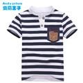 2017 Summer Hot Sales Mandarin Collar Children's T-shirt  Boys Short Sleeve Stripe Children's Wear  Fashion Polo Shirt for Kids