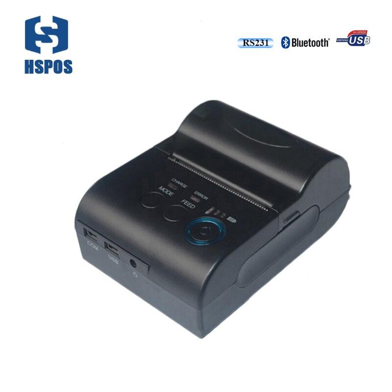 58 мм Мини Портативный <font><b>Bluetooth</b></font> термопринтер аккумулятора с USB интерфейс <font><b>impressora</b></font> шины законопроект печатная машина Поддержка Android SDK