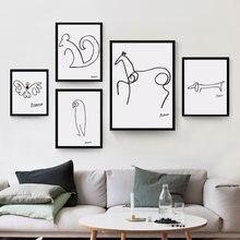 Абстрактное животное Пабло Пикассо собака белка лошадь минималистичные