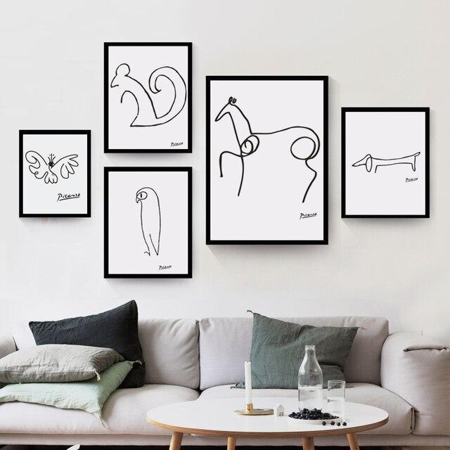 Pablo picasso abstracta animal perro ardilla caballo arte for Minimal art resumen