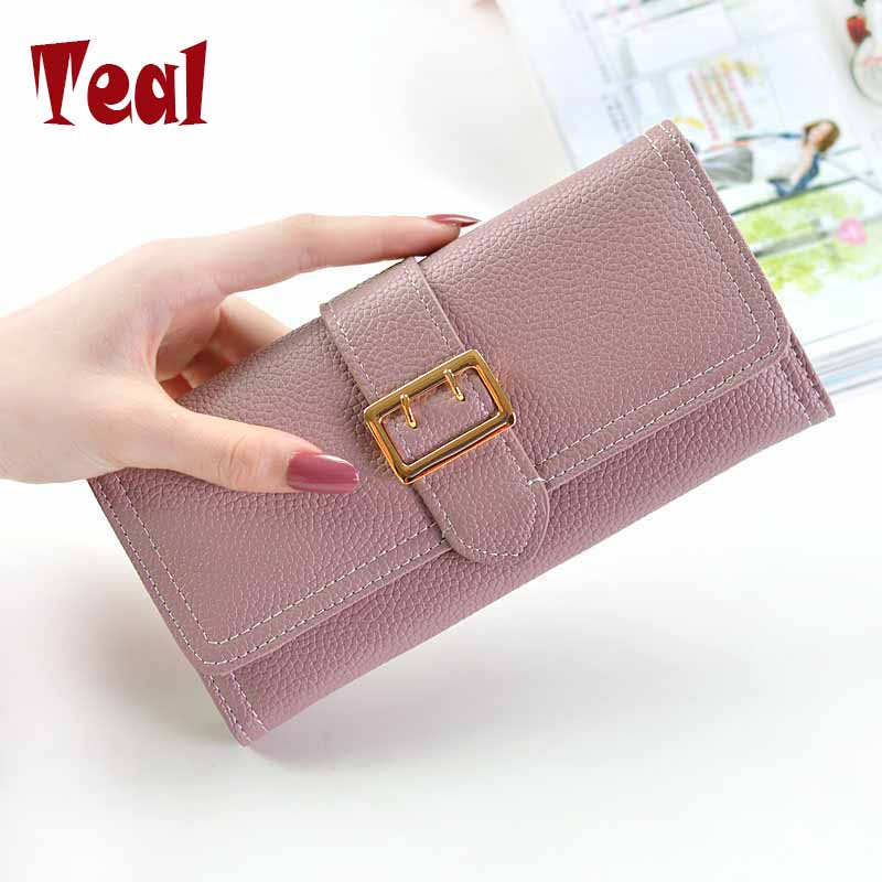 2017 New fashion women wallets purse for ladies luxury brand designer long wallet pu leather large capacity purse female usb dac h1 hifi mini computer external sound card chip pcm2704 digital pc black 2017 hot sale with cable