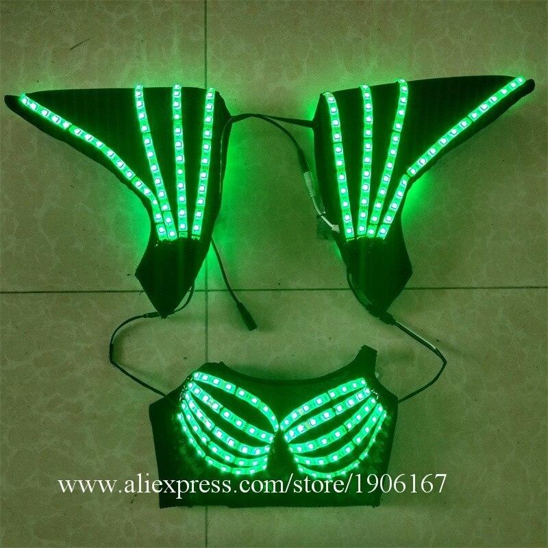 Hochwertige bunte LED-Kostüme können 7 Farben LED-BH mit - Partyartikel und Dekoration - Foto 4