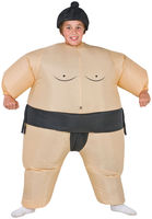 Inflatable Sumo Costume Funny Dress Fan Operated Cosplay Halloween Costume for Kids