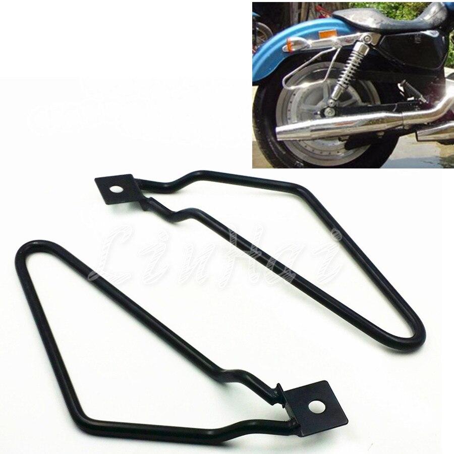 Motorcycle Saddle bag Support Bars Mount Bracket For Harley Davidson Sportster