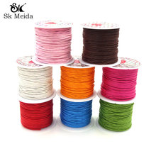 1.0mm 10m Roll Waxed Cord For Bracelet Necklace Making Wax C