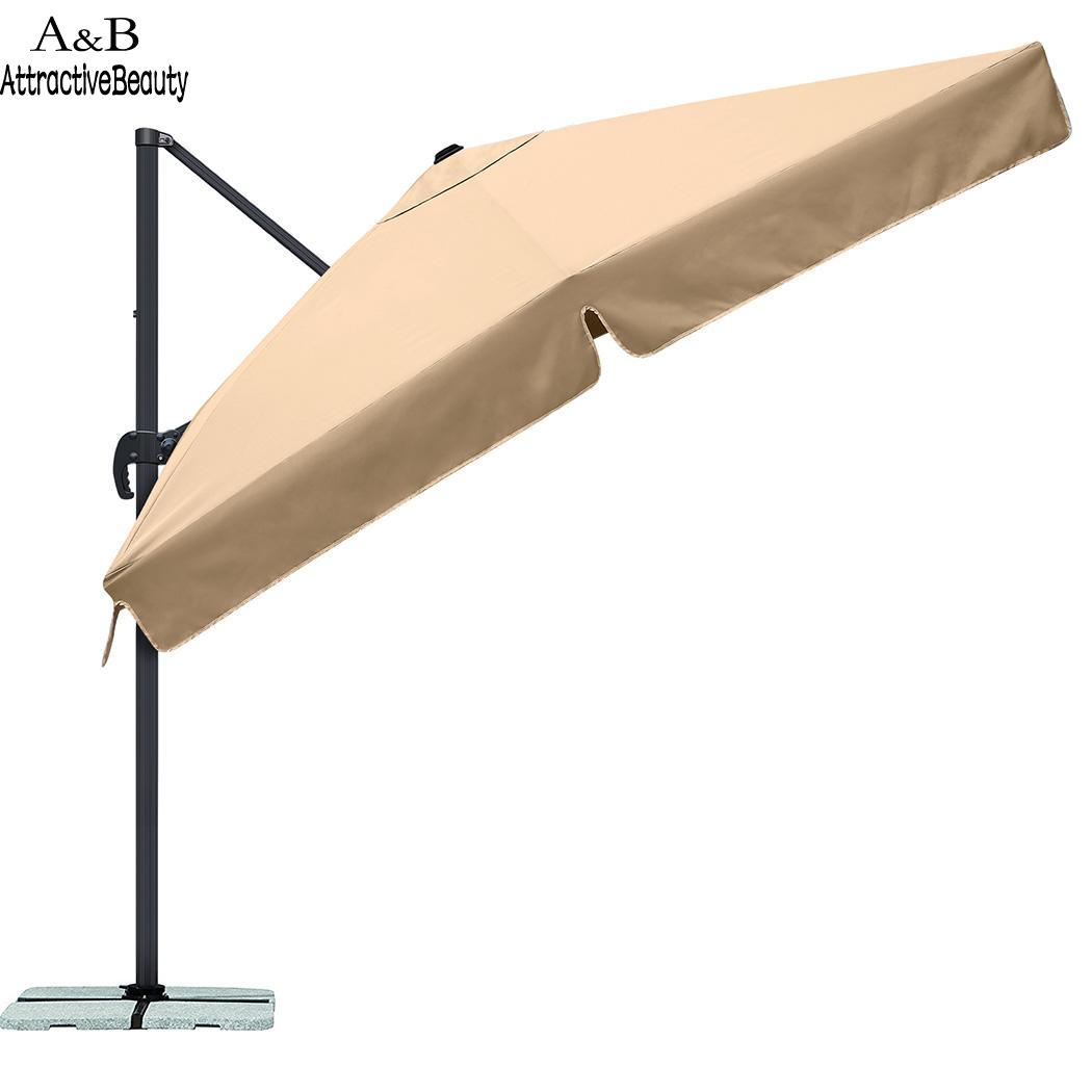 Shade Waterproof Garden Parasol Patio Sun 3M Hanging Umbrella