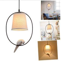 Retro single head resin bird chandelier American country personality aisle bedroom living room lighting study restaurant chande