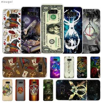 MouGol cartoon Harry Potter Transparent Patterned hard Case Cover for Samsung Galaxy S4 S5 S6 S7 S8 S9 Plus Edge Mini telephony