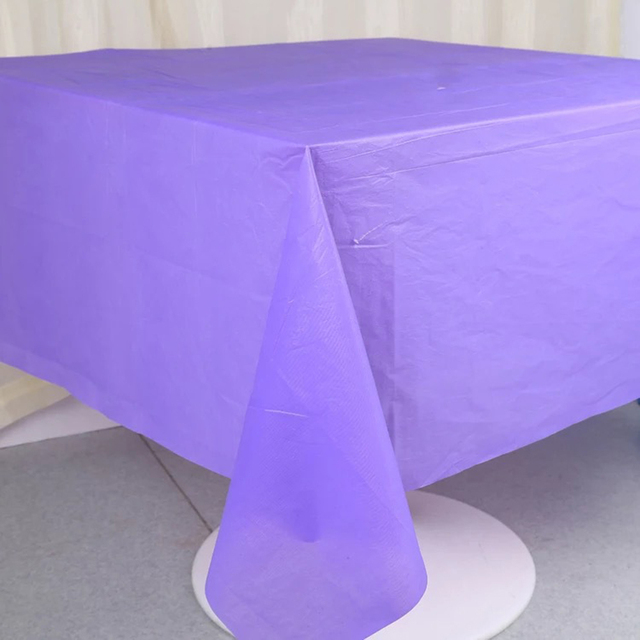 1Pc 137 Cm * 183 Cm Plastic Tablecloths Birthday Candy Color Table Cover  Wedding Party Supplies