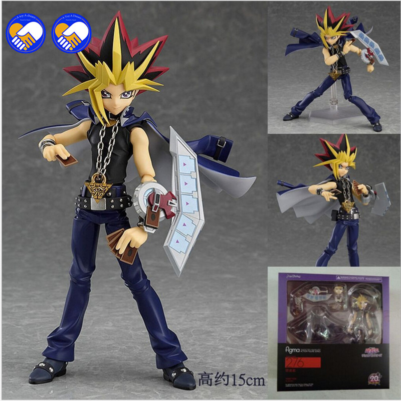 A toy A dream Boxed Figma 276 Yu-Gi-Oh! Duel Monsters YAMI YUGI PVC Action Figure Resin Collection Model Doll Toy Gifts Doll [sgdoll] 2017 new anime yu gi on duel monsters yami yugi 1 7 pvc figure no box hot sale free shipping 5278 l