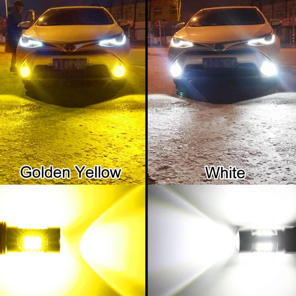 TOAUTO 2pcs H11 H8 LED Bulbs HB3 9005 HB4 9006 LED 6000K 3000K Car Fog Lights 1200LM Auto Fog Running Lamp White Golden 12V