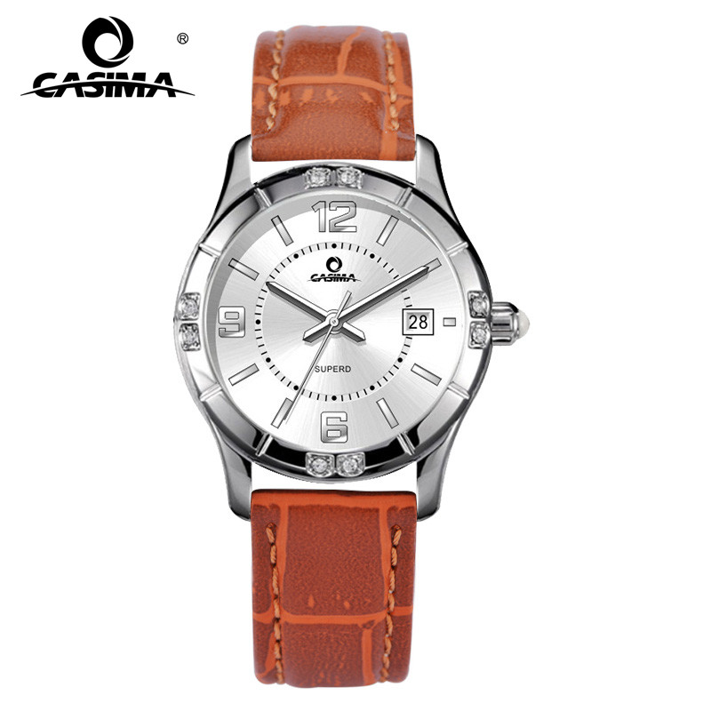 Элитный бренд часы Для женщин Мода Повседневное Красота фантазии Для женщин s кварцевые наручные часы Водонепроницаемый 50 м кожаный ремешо...