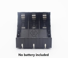 10pcs/lot plastic 18650 li-ion battery storage box Organizer case 3.7V Battery Holder Case With Pins connector
