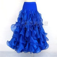 New style Ballroom dance costumes sexy spandex crimping ballroom dance skirt for women ballroom dance skirts S 4XL LBR 953