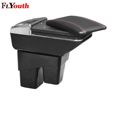 For Honda Fit Jazz 2014 2015 2016 2017 2018 Car Armrest Box Central Console Arm Rest Box Cup Holder Ashtray Seat Armrest Styling armrest for renault logan 2004 2019 car arm rest central console leather storage box ashtray accessories car styling
