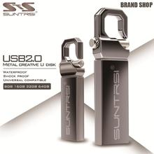 Suntrsi USB Flash Drive 64GB Metal Pendrive 32GB 16GB USB
