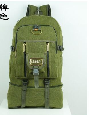 50l Large-capacity Canvas Backpack Men And Women Travel Backpack Mountaineering Bag #3