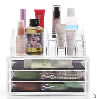 Deluxe Acrylic Makeup Organizers acrylic Cosmetic Jewelry and
