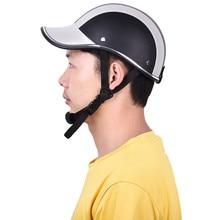Classic Style 5 Colors Cascoa Para Moto Motorcycle Helmet Half Face Helmets 55-60 cm Baseball Cap Style Safety Hard Hat Anti-UV