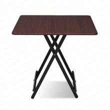 Складной стол из цельного дерева, домашний обеденный стол, простой четырехквадратный портативный уличный стол, современный кухонный стол Mesas Plegables Madera