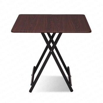 Mesa plegable de Madera maciza, mesa de comedor para el hogar, mesa sencilla de cuatro plazas portátil para exteriores, moderna mesa de cocina, Mesas Plegables Madera