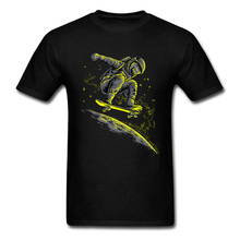 Galxy Space Surfer Astronaut Skateboard Funny Tshirt Spaceman Moon Mars Men Tops & Tees 2019 Latest T-shirts Plue Size Tee