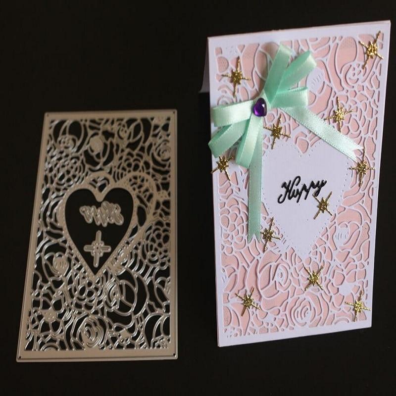 Glita creatif frame heart dies scrapbooking Cutting Dies metal stencils DIY albulm winter card decorative paper