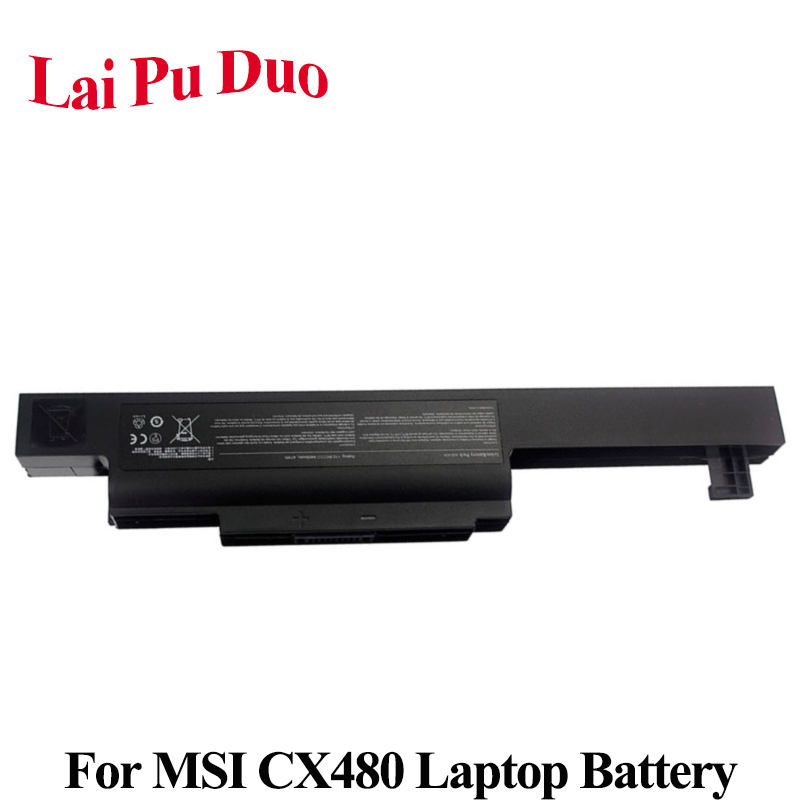 A32-A24 Laptop Battery For <font><b>MSI</b></font> <font><b>CX480</b></font> CX480MX <font><b>CX480</b></font>-IB32312G50SX Series E4212 MD98042 MD98039 MD97823 Series image